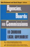 Cover of: Agencies, boards, and commissions in Canadian local government |