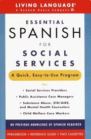 Cover of: Essential Spanish for Social Services (Living Language Complete Courses) | Nancy Geshke