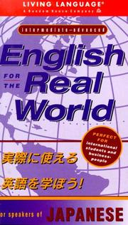 Cover of: English for the real world for Japanese speakers
