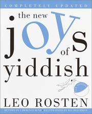 Cover of: The New Joys of Yiddish | Leo Calvin Rosten