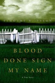 Cover of: Blood Done Sign My Name