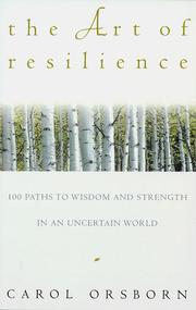 Cover of: art of resilience | Carol Orsborn