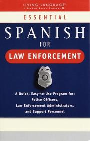 Cover of: Essential Spanish for law enforcement
