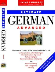 Cover of: Ultimate German: Advanced | Living Language
