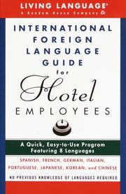 Cover of: International foreign language guide for hotel employees | David D'Aprix