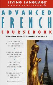 Cover of: Advanced French Coursebook | Living Language