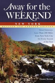 Cover of: Away for the weekend, New York