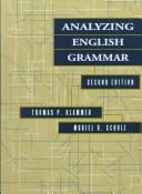 Cover of: Analyzing English grammar | Thomas P. Klammer