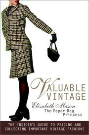 Cover of: Valuable Vintage