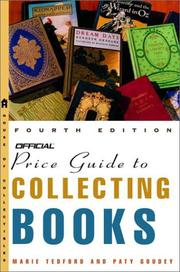 Cover of: The official price guide to collecting books