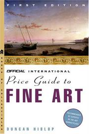 Cover of: Hislop's Official International Price Guide to Fine Art (Hislops Official International Price Guide to Fine Art) | Duncan Hislop