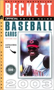 Cover of: The Official Beckett Price Guide to Baseball Cards 2002-2003, 22nd Edition (Official Price Guide to Baseball Cards)