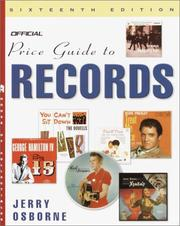 Cover of: The Official Price Guide to Records, 16th Edition (Official Price Guide to Records)