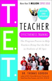 Cover of: Teacher effectiveness training