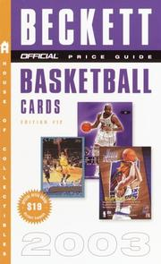 Cover of: The Official Price Guide to Basketball Cards 2003 Edition #12 (Official Price Guide to Basketball Cards)
