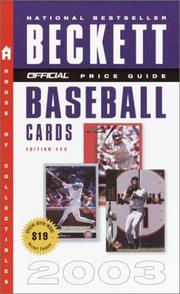 Cover of: The Official Price Guide to Baseball Cards 2003, 23rd Edition (Official Price Guide to Baseball Cards)