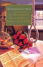 Cover of: The Mysterious Adventures of Sherlock Holmes | Arthur Conan Doyle