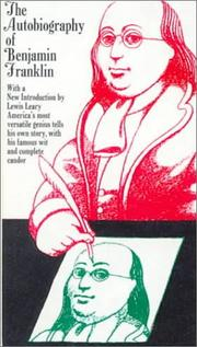 Cover of: The Autobiography of Benjamin Franklin
