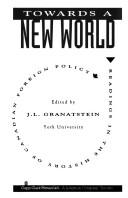 Cover of: Towards a new world