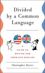 Cover of: Divided by a common language | Christopher Davies