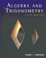 Cover of: Algebra And Trigonometry: a graphing approach
