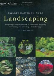 Cover of: Taylor's Master Guide to Landscaping