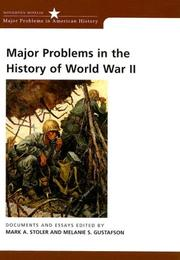 Cover of: Major problems in the history of World War II |