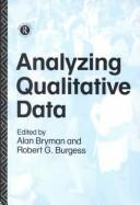 Cover of: Analyzing qualitative data