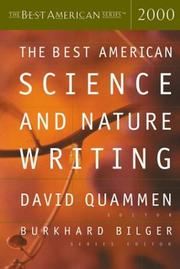 Cover of: The Best American Science & Nature Writing 2000 |