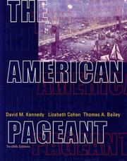 Cover of: The American pageant by