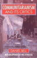 Cover of: Communitarianism and its critics