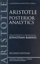 Cover of: Posterior analytics