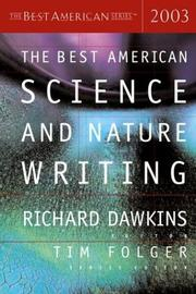 Cover of: The Best American Science and Nature Writing 2003 (The Best American Series) |