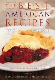Cover of: The Best American Recipes 2002-2003 (Best American)