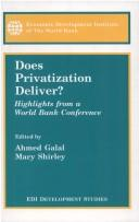 Cover of: Does privatization deliver? |