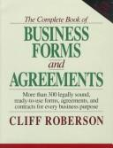 Cover of: The complete book of business forms and agreements