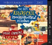 Cover of: The Best American Nonrequired Reading 2002 (The Best American Series (TM))