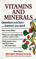 Cover of: Vitamins and minerals
