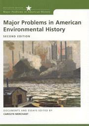 Cover of: Major Problems in American Environmental History Documents and Essays (Major Problems in American History)