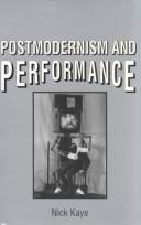 Cover of: Postmodernism and performance