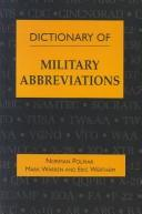 Cover of: Dictionary of military abbreviations