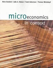 Cover of: Microeconomics in context | Neva Goodwin ... [et al.].