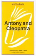 Cover of: Antony and Cleopatra |