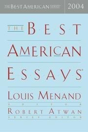 Cover of: The Best American Essays 2004 (The Best American Series (TM)) |