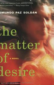 Cover of: The matter of desire