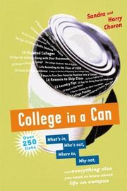 Cover of: College in a can by