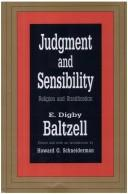 Cover of: Judgment and sensibility