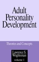 Cover of: Adult personality development | Lawrence S. Wrightsman