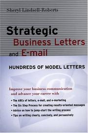 Cover of: Strategic Business Letters and E-mail
