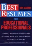 Cover of: Best resumes for educational professionals